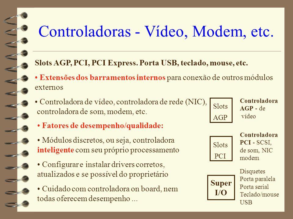 Controladoras - Vídeo, Modem, etc.