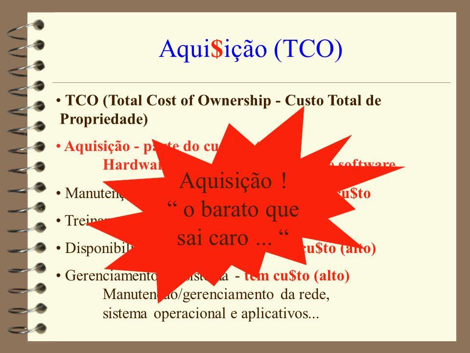 Aqui$ição (TCO) Aquisição ! o barato que sai caro ...