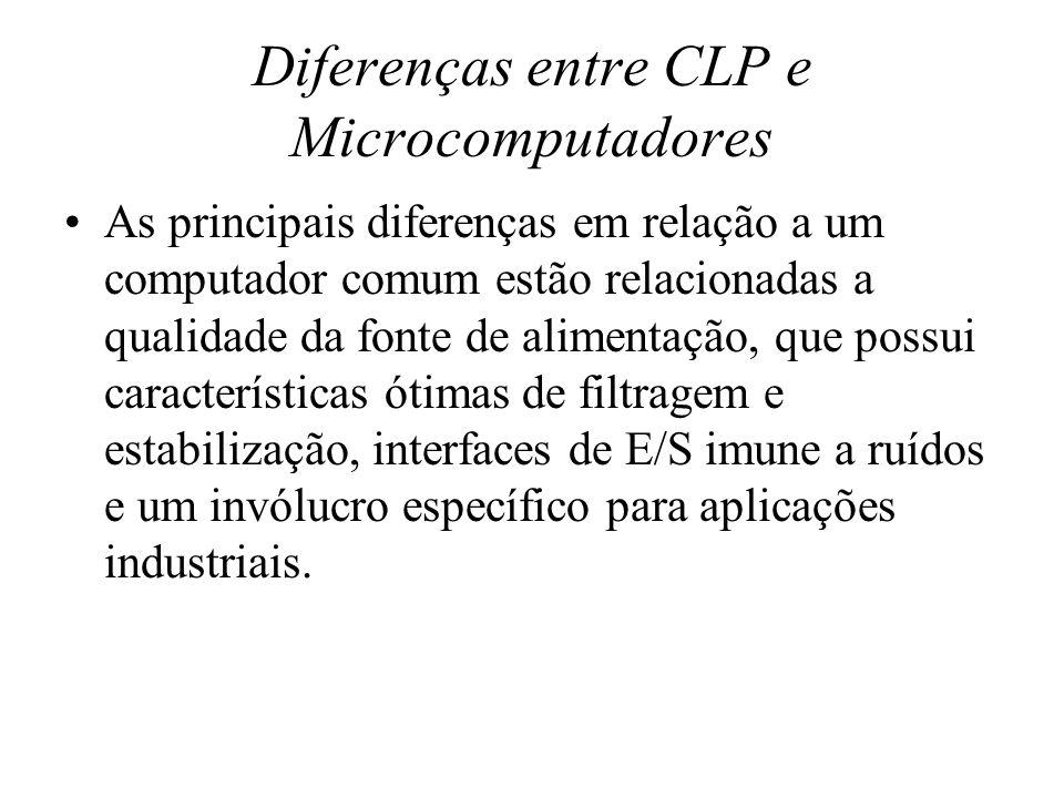 Diferenças entre CLP e Microcomputadores