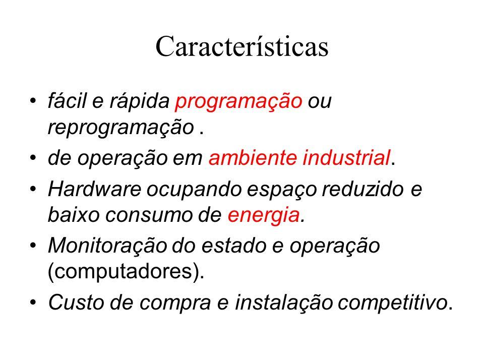 Características fácil e rápida programação ou reprogramação .