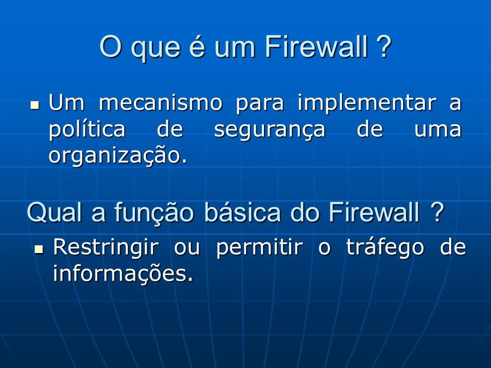O que é um Firewall Qual a função básica do Firewall