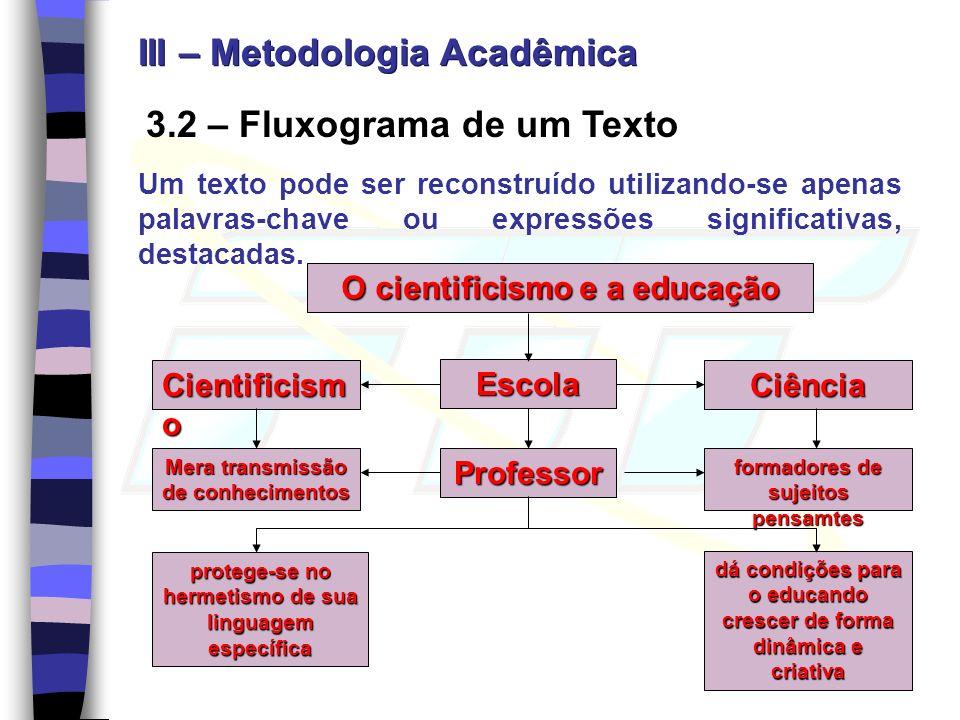 III – Metodologia Acadêmica