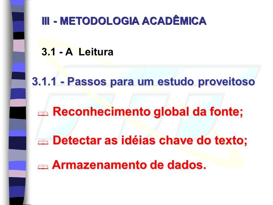 Reconhecimento global da fonte;