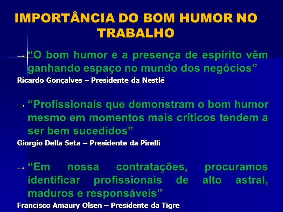IMPORTÂNCIA DO BOM HUMOR NO TRABALHO