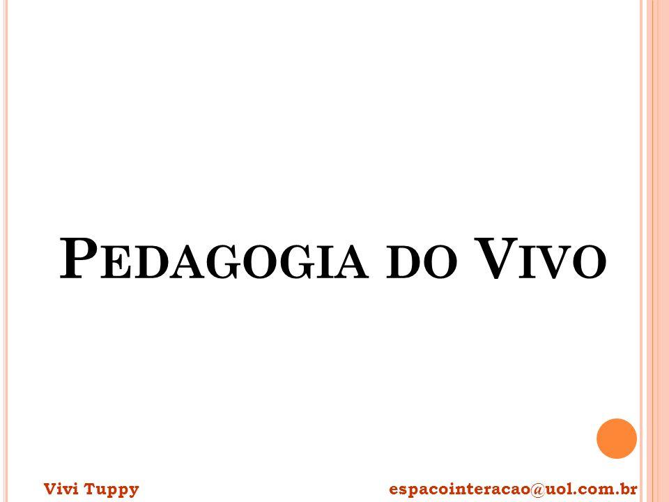 Pedagogia do Vivo Vivi Tuppy espacointeracao@uol.com.br