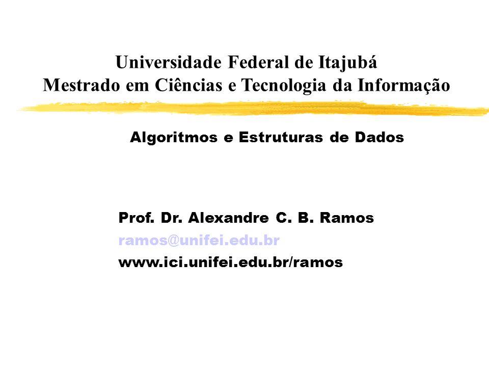 Universidade Federal de Itajubá Mestrado em Ciências e Tecnologia da Informação
