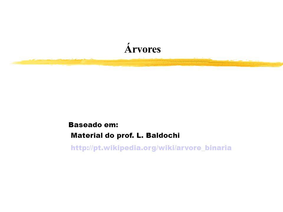 Árvores Baseado em: Material do prof. L. Baldochi