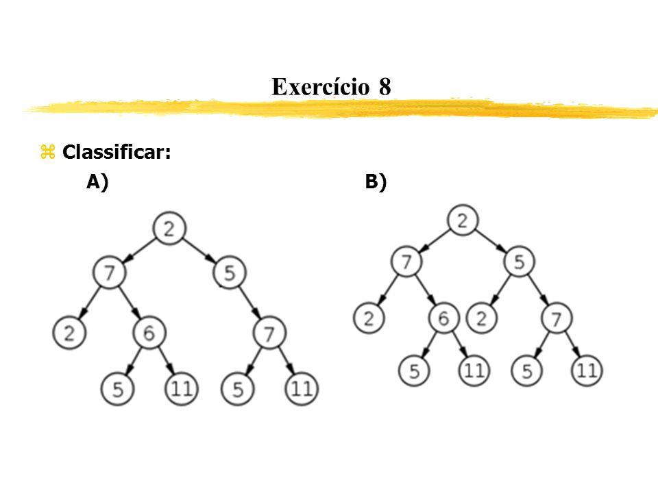 Exercício 8 Classificar: A) B) 165