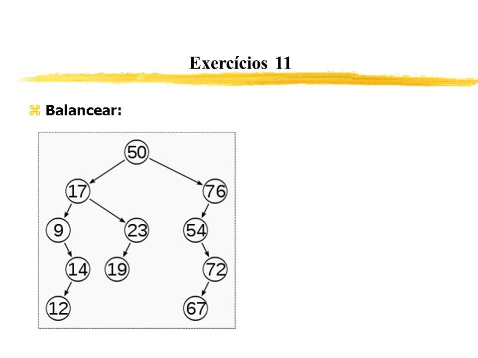 Exercícios 11 Balancear: 274