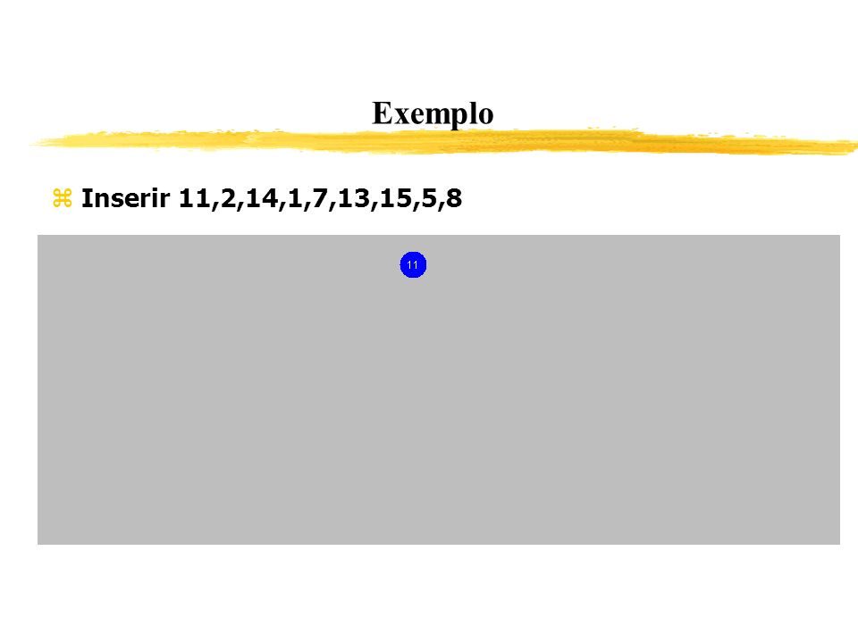 Exemplo Inserir 11,2,14,1,7,13,15,5,8 323