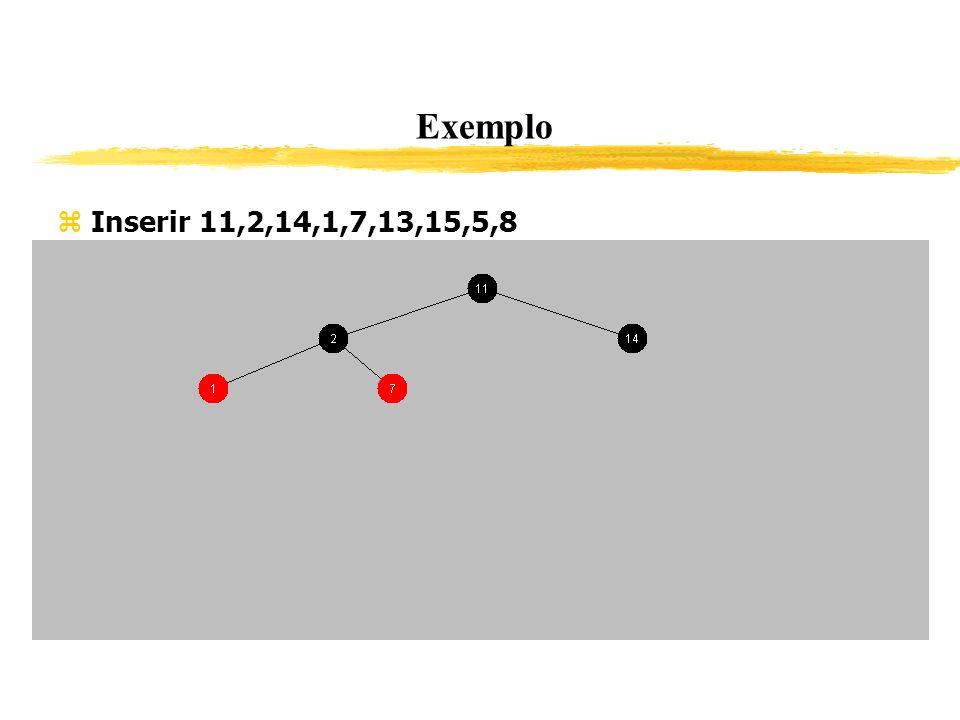 Exemplo Inserir 11,2,14,1,7,13,15,5,8 336