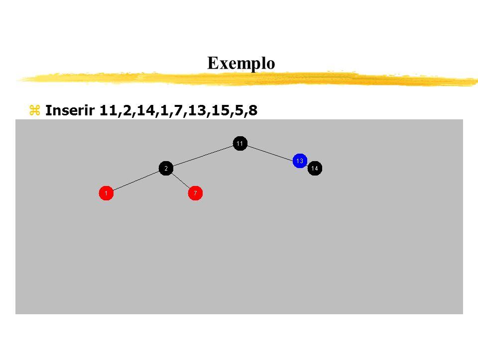 Exemplo Inserir 11,2,14,1,7,13,15,5,8 338