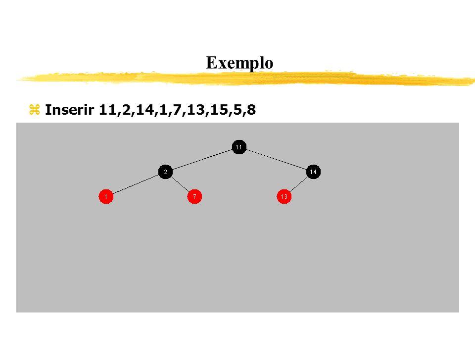 Exemplo Inserir 11,2,14,1,7,13,15,5,8 339