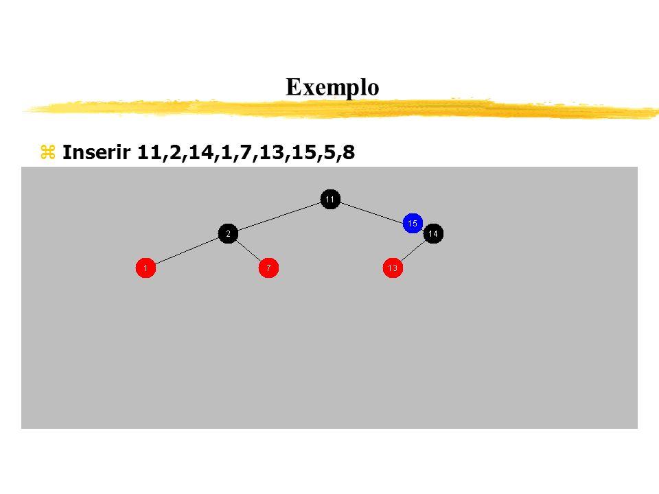 Exemplo Inserir 11,2,14,1,7,13,15,5,8 341