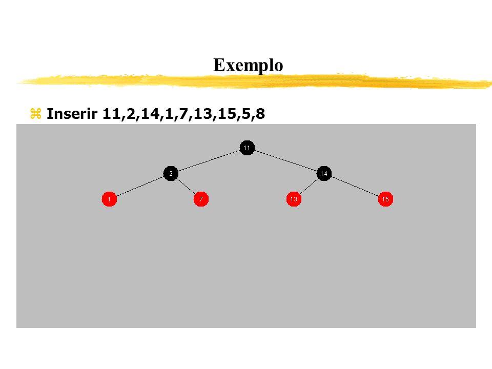 Exemplo Inserir 11,2,14,1,7,13,15,5,8 342