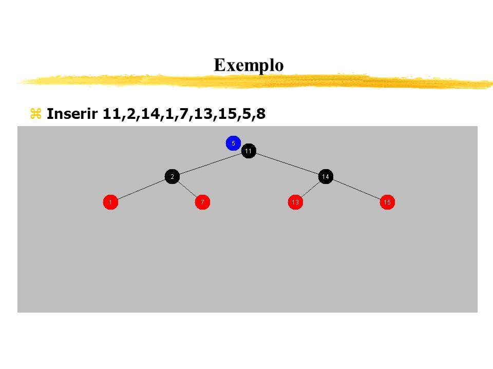 Exemplo Inserir 11,2,14,1,7,13,15,5,8 343
