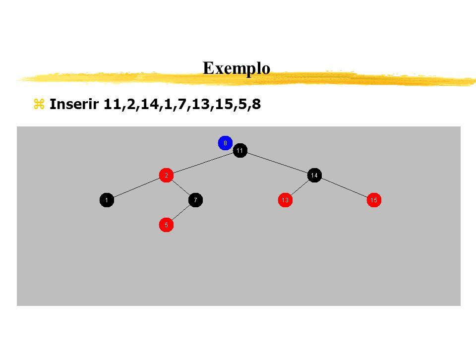 Exemplo Inserir 11,2,14,1,7,13,15,5,8 348