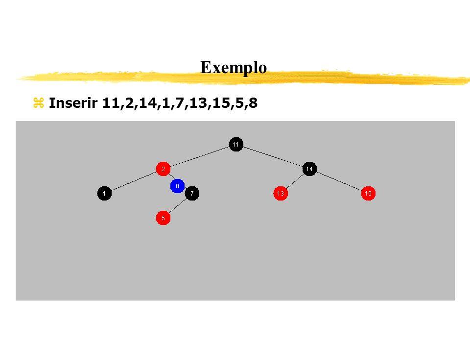 Exemplo Inserir 11,2,14,1,7,13,15,5,8 350