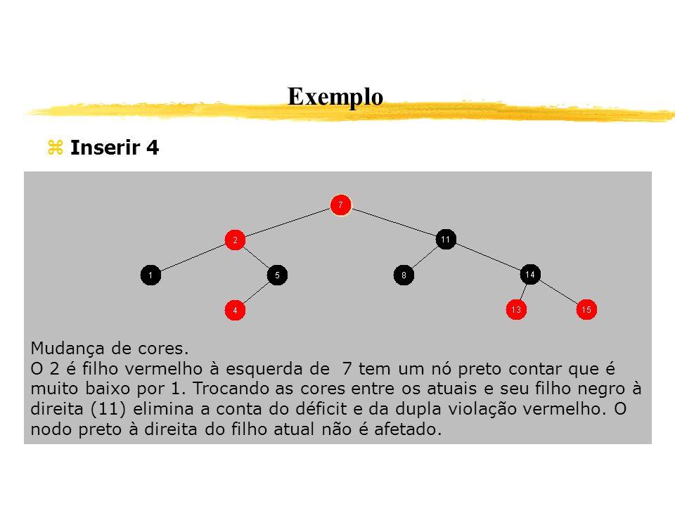 Exemplo Inserir 4 Mudança de cores.