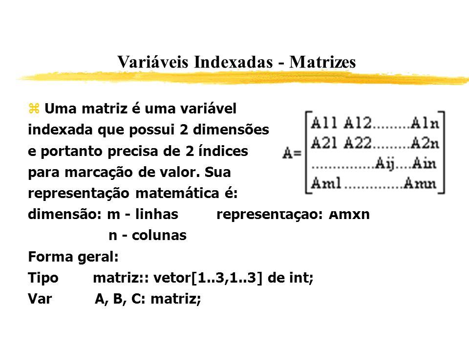 Variáveis Indexadas - Matrizes