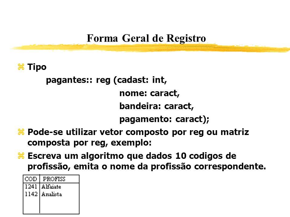 Forma Geral de Registro