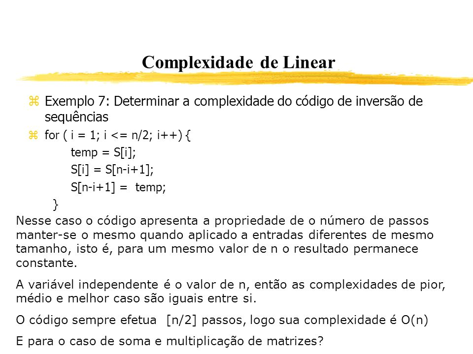 Complexidade de Linear