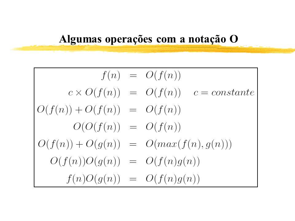 Algumas operações com a notação O
