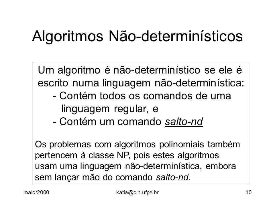 Algoritmos Não-determinísticos