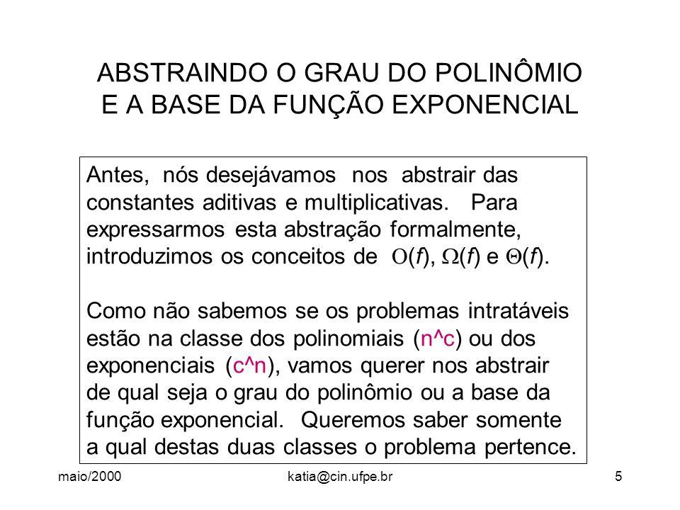 ABSTRAINDO O GRAU DO POLINÔMIO E A BASE DA FUNÇÃO EXPONENCIAL