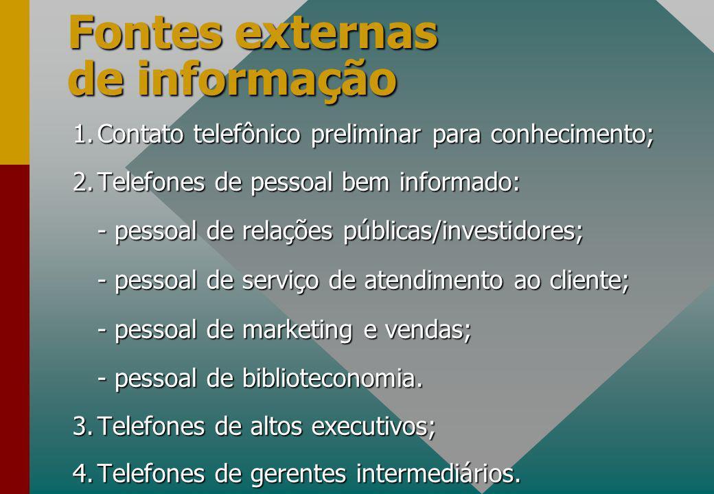 Fontes externas de informação