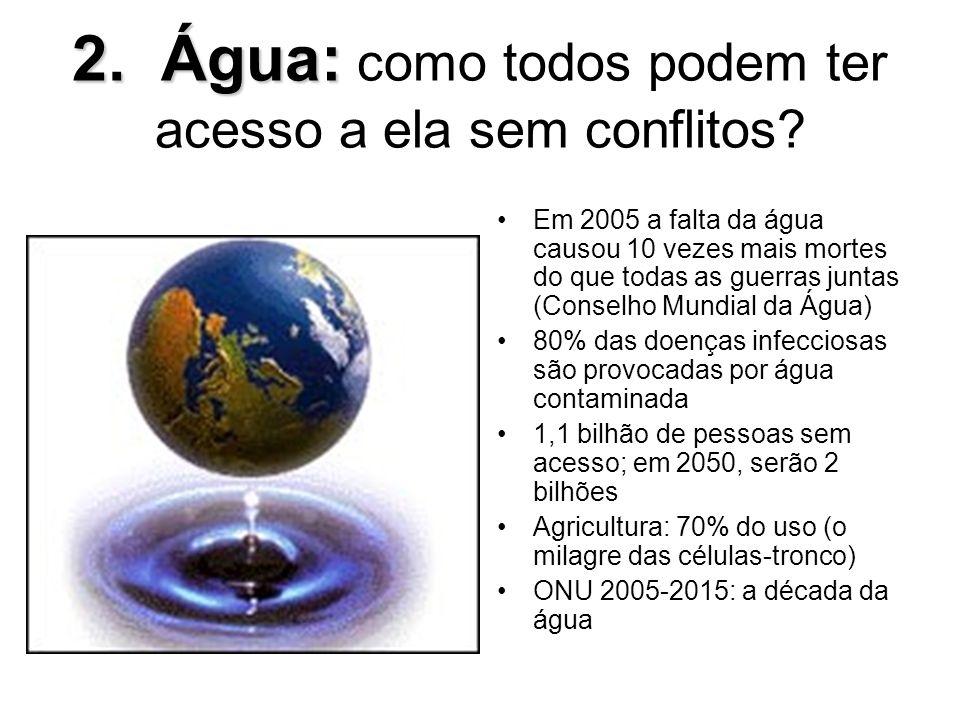2. Água: como todos podem ter acesso a ela sem conflitos
