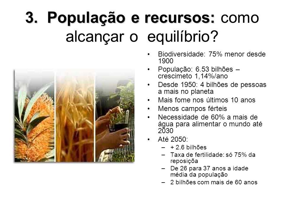 3. População e recursos: como alcançar o equilíbrio