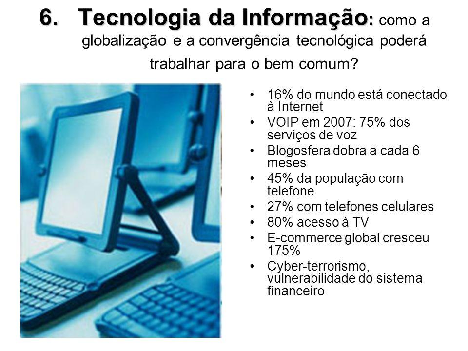 Tecnologia da Informação: como a globalização e a convergência tecnológica poderá trabalhar para o bem comum