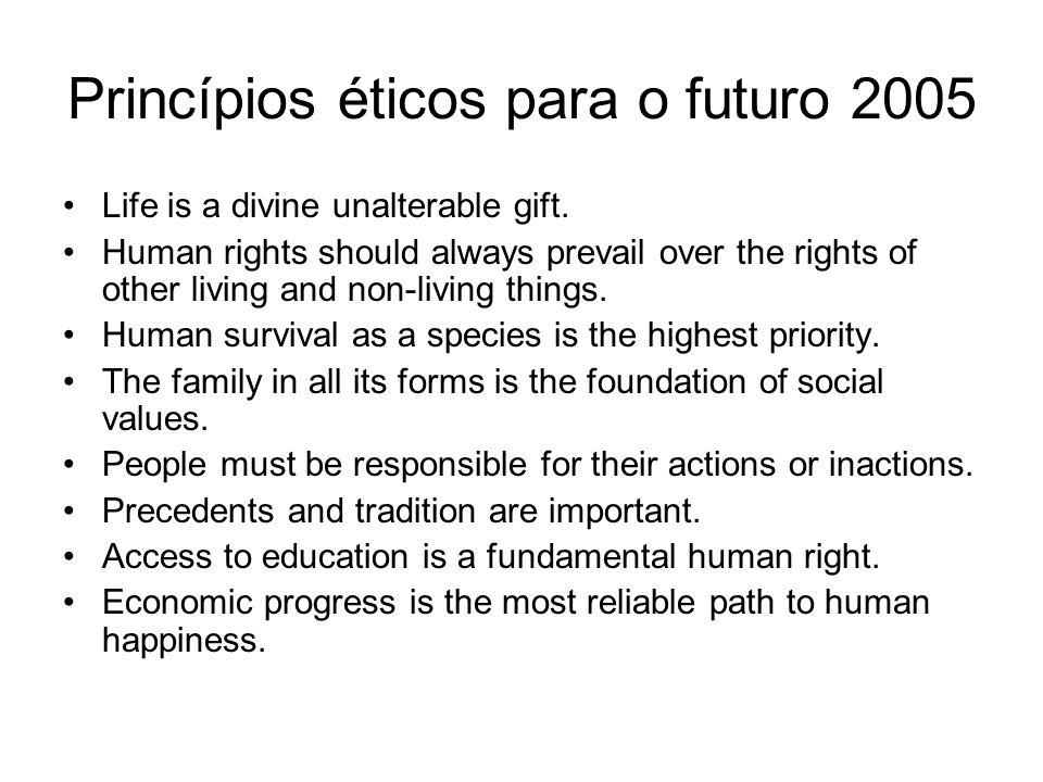 Princípios éticos para o futuro 2005