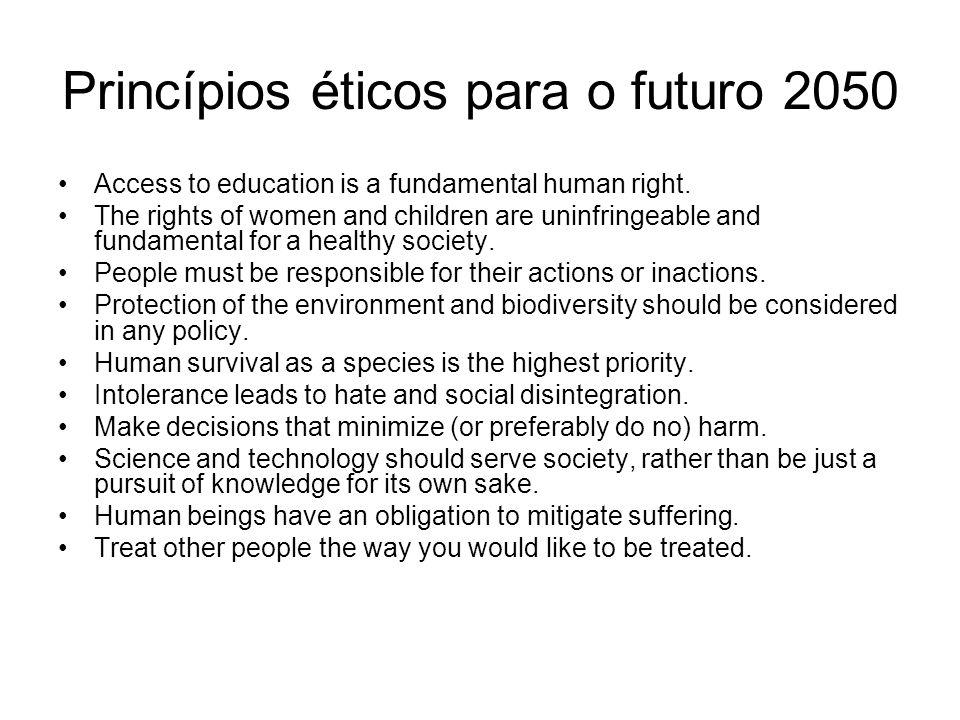 Princípios éticos para o futuro 2050