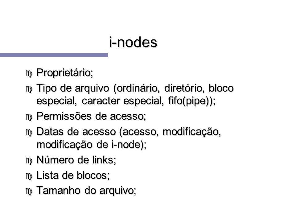 i-nodes Proprietário;