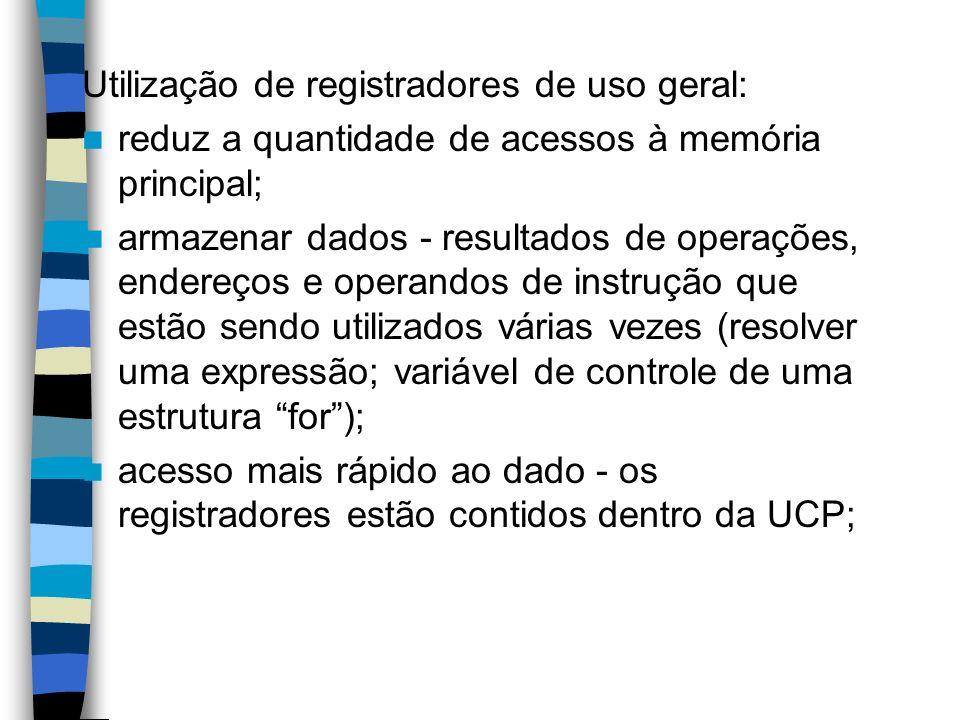 Utilização de registradores de uso geral: