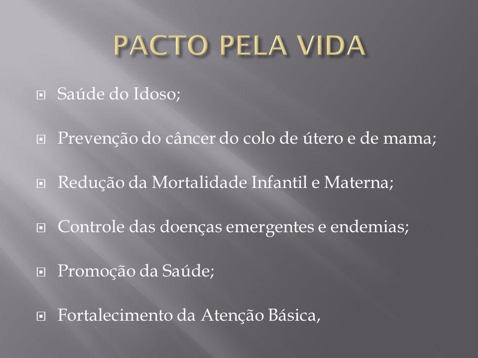 PACTO PELA VIDA Saúde do Idoso;