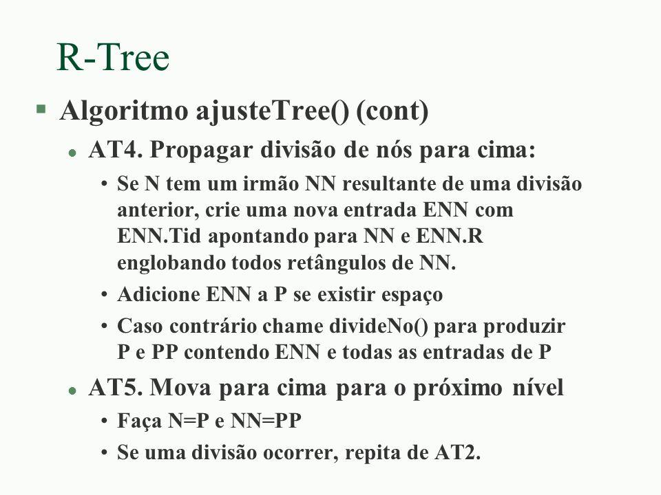 R-Tree Algoritmo ajusteTree() (cont)
