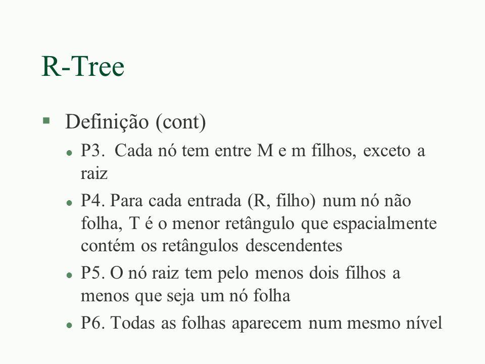 R-Tree Definição (cont)