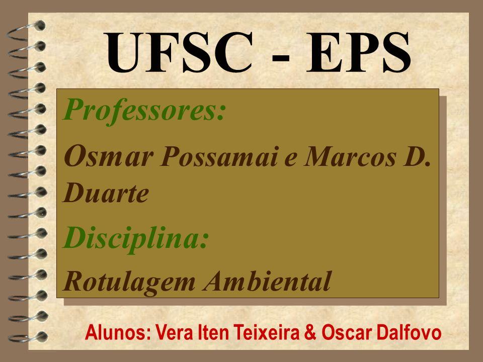 Alunos: Vera Iten Teixeira & Oscar Dalfovo