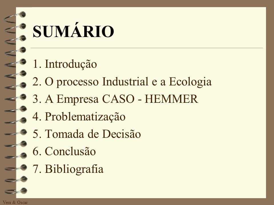 SUMÁRIO 1. Introdução 2. O processo Industrial e a Ecologia