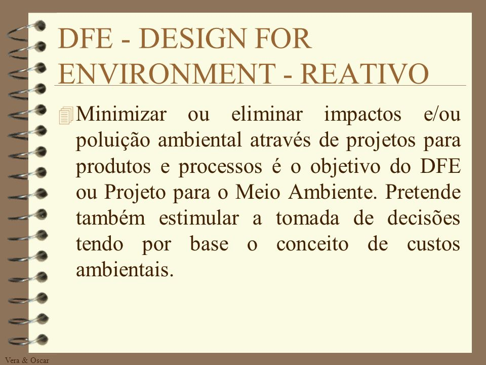 DFE - DESIGN FOR ENVIRONMENT - REATIVO