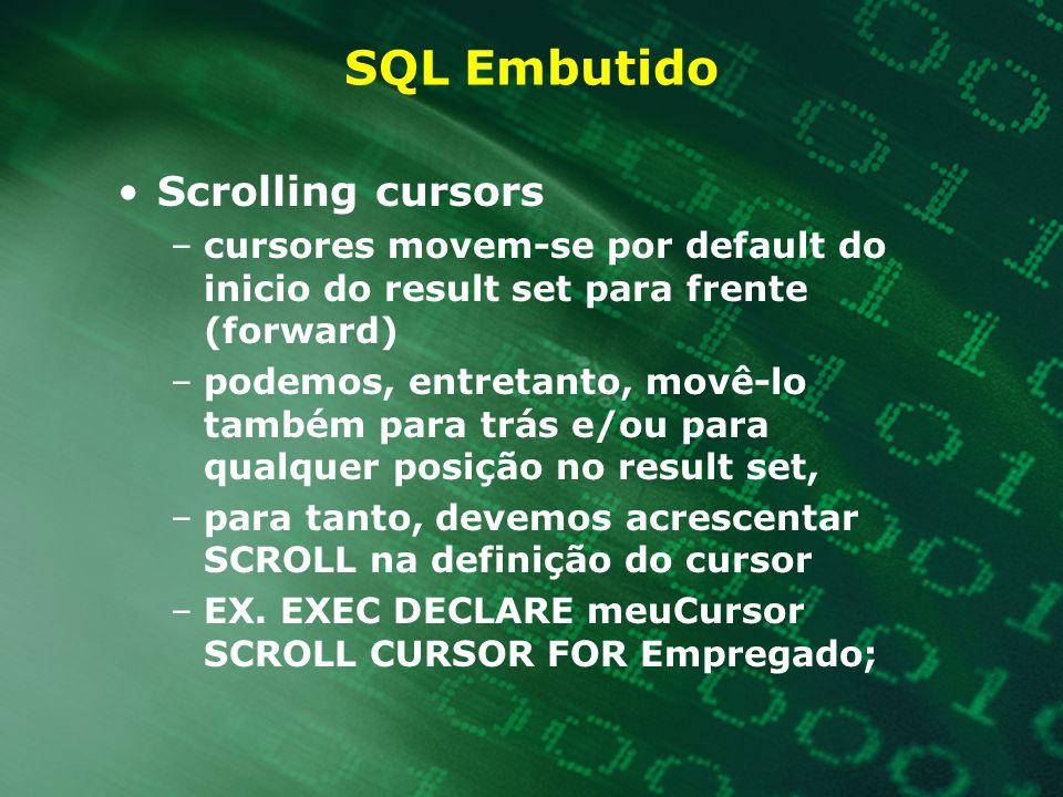 SQL Embutido Scrolling cursors