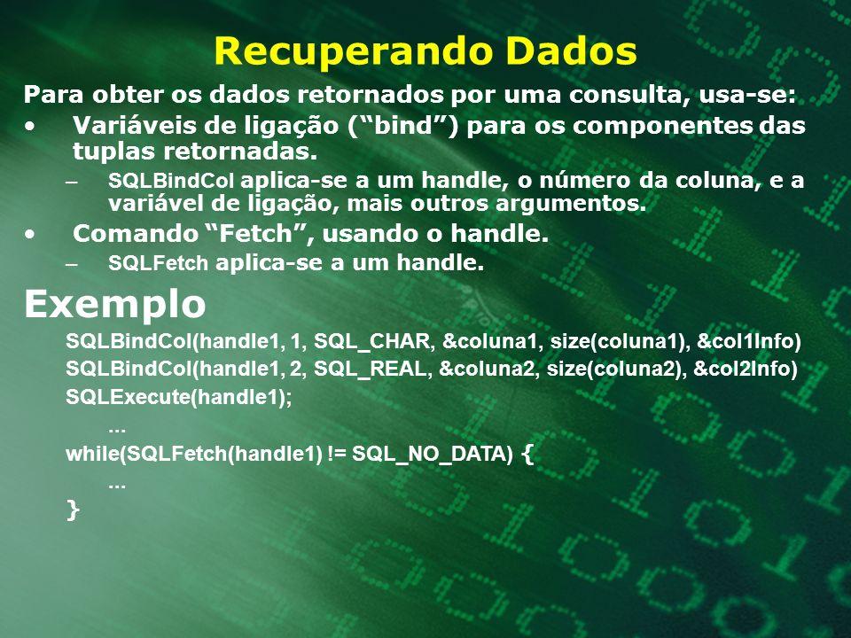 Recuperando Dados Exemplo