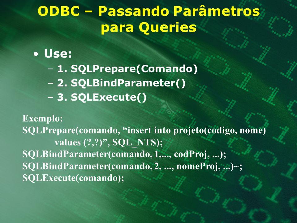 ODBC – Passando Parâmetros para Queries