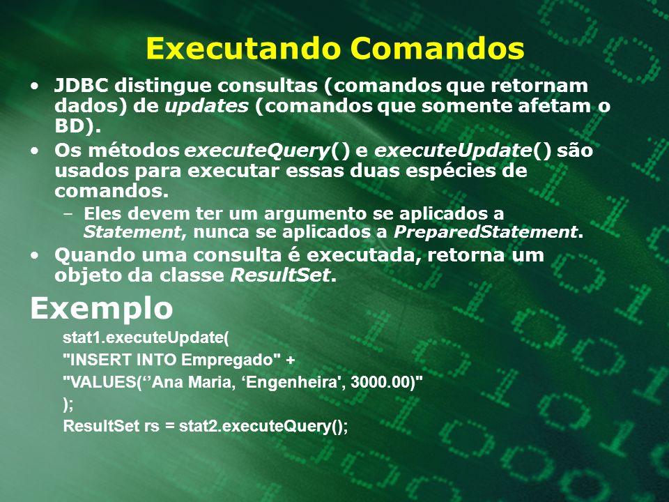 Executando Comandos Exemplo