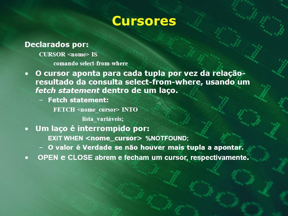 Cursores Declarados por: