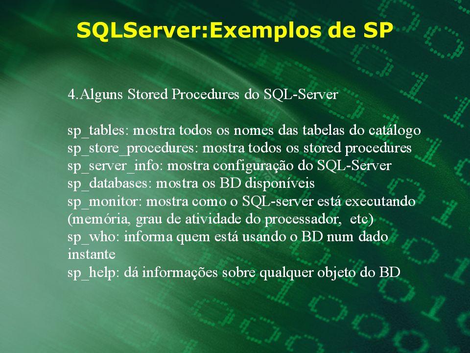 SQLServer:Exemplos de SP