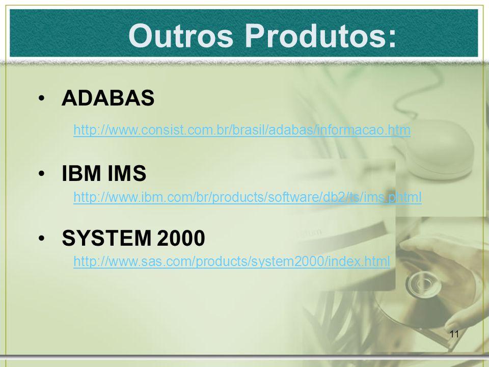 Outros Produtos: ADABAS IBM IMS SYSTEM 2000
